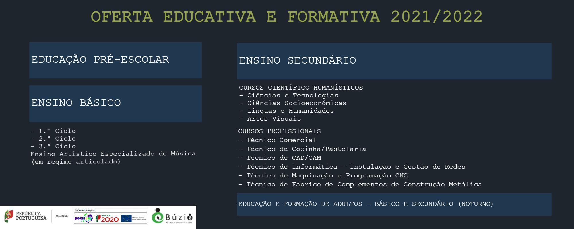 OFERTA EDUCATIVA E FORMATIVA - 2021/2022